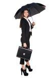 atrakcyjna kobieta gospodarczej uśmiechnięta Fotografia Stock