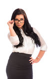 atrakcyjna kobieta jednostek gospodarczych Zdjęcie Stock