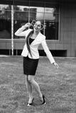 atrakcyjna kobieta jednostek gospodarczych Fotografia Stock