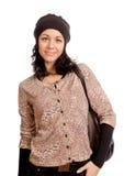 Atrakcyjna kobieta ubierająca dla zimy obraz royalty free