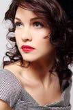 atrakcyjna kurtki skóry kobieta zdjęcie stock