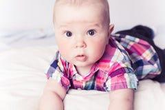 atrakcyjna niemowlęcia szkockiej kraty koszula Fotografia Stock