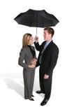 atrakcyjna para parasolkę Zdjęcia Royalty Free