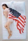 Atrakcyjna patriotyczna kobieta marzy usa Obraz Stock