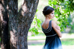 Atrakcyjna piękna kobieta w grka stylu Zdjęcia Royalty Free