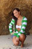 atrakcyjna plażowa kobieta zdjęcie stock
