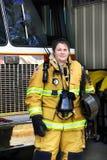 Atrakcyjna Pożarnicza kobieta Fotografia Stock