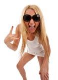 atrakcyjna przypadkowa krzycząca kobieta Zdjęcia Stock