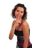 atrakcyjna shooshing kobieta Obraz Royalty Free