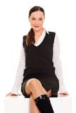 atrakcyjna siedząca kobieta Obrazy Stock