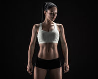Atrakcyjna sprawności fizycznej kobieta, wyszkolony żeński ciało, stylu życia portrai Obraz Royalty Free