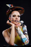 atrakcyjna szczotkarska buautiful kobieta fotografia stock