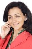 atrakcyjne dziewczyny earpieces słuchał muzyki Zdjęcie Royalty Free