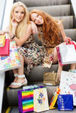 atrakcyjne dziewczyny szczęśliwi szczęśliwy target273_1_ dwa Fotografia Stock