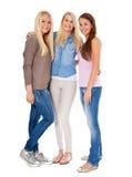 atrakcyjne dziewczyny trzy Zdjęcie Royalty Free