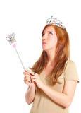atrakcyjnego mienia magiczni różdżki kobiety potomstwa zdjęcie stock