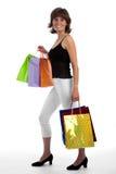 atrakcyjnego zakupy uśmiechnięta kobieta Fotografia Royalty Free