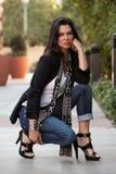 atrakcyjnej brunetki atrakcyjna forties kobieta Obraz Royalty Free