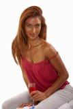 atrakcyjnej brunetki indyjska lat dwudziestych kobieta Zdjęcia Stock