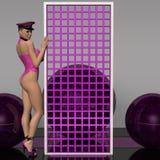 atrakcyjnej pojęcia fetysza przyszłościowej dziewczyny seksowna odzież Obraz Royalty Free
