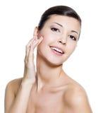 atrakcyjnej twarzy szczęśliwi zdrowie skin kobiety Obraz Royalty Free