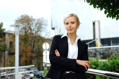 atrakcyjni biznesowej kobiety potomstwa zdjęcia royalty free