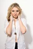atrakcyjni blondynki damy potomstwa Obraz Royalty Free