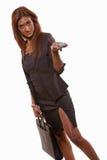 atrakcyjni brunetki bizneswomanu hindusa lata dwudzieste Zdjęcie Stock