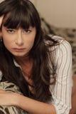 atrakcyjni brunetki headshot potomstwa Obrazy Royalty Free
