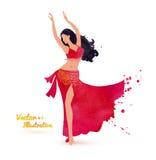 atrakcyjni brzucha tana tancerza tanowie ubierają dziewczyny wschodniej pomarańcze Zdjęcia Royalty Free