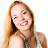 Atrakcyjni caucasian uśmiechnięci kobieta blondyny Obraz Stock