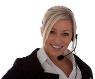 atrakcyjni centrum telefonicznego operatora potomstwa Obraz Royalty Free