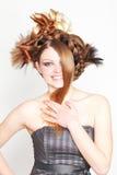 atrakcyjni fryzury kobiety potomstwa fotografia royalty free