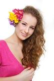 atrakcyjni kwiatów dziewczyny potomstwa Obrazy Stock