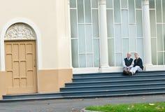 atrakcyjni pary seniora kroki Fotografia Royalty Free