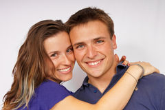 atrakcyjni pary wpólnie potomstwa Zdjęcia Stock