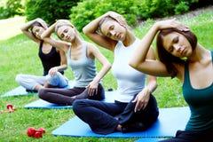 atrakcyjni robi ćwiczeń sprawności fizycznej ludzie zdjęcie royalty free
