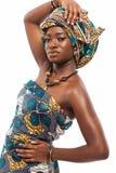 Atrakcyjny afrykanina model w tradycyjnej sukni Obraz Royalty Free