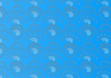 Atrakcyjny bezszwowy deseniowy tło na błękicie Obraz Stock