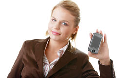 atrakcyjny biznesowy pda używać kobiety Obrazy Stock