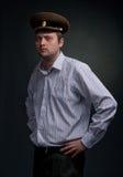 atrakcyjny brodaty kapeluszowy mężczyzna zdjęcie royalty free
