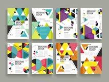 Atrakcyjny broszurka szablon Zdjęcie Stock