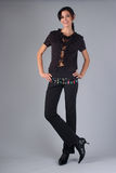 Atrakcyjny brunetka model Obrazy Stock