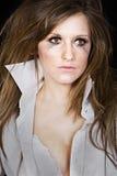 atrakcyjny brunetki dziewczyny makeup upaćkany Zdjęcie Stock