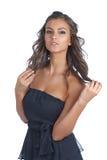 atrakcyjny brunetki dziewczyny target1009_0_ Zdjęcie Stock