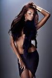 Atrakcyjny brunetki kobiety pozować. zdjęcie royalty free