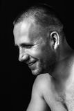 Atrakcyjny faceta zakończenia portret Fotografia Royalty Free