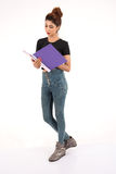 Atrakcyjny młody żeński uczeń Obrazy Royalty Free