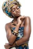 Atrakcyjny młody Afrykański moda model. zdjęcie royalty free
