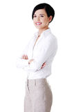 Atrakcyjny młody bizneswoman. Fotografia Royalty Free